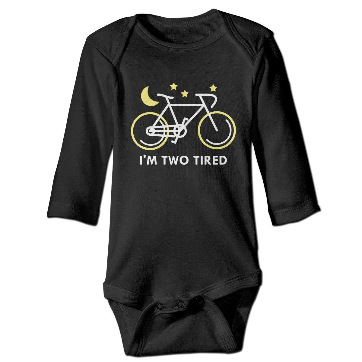 CZDedgQ99 Toddler Im Two Tired Long Sleeve Climbing Clothes Pajamas Sleepwear Suit 6-24 Months