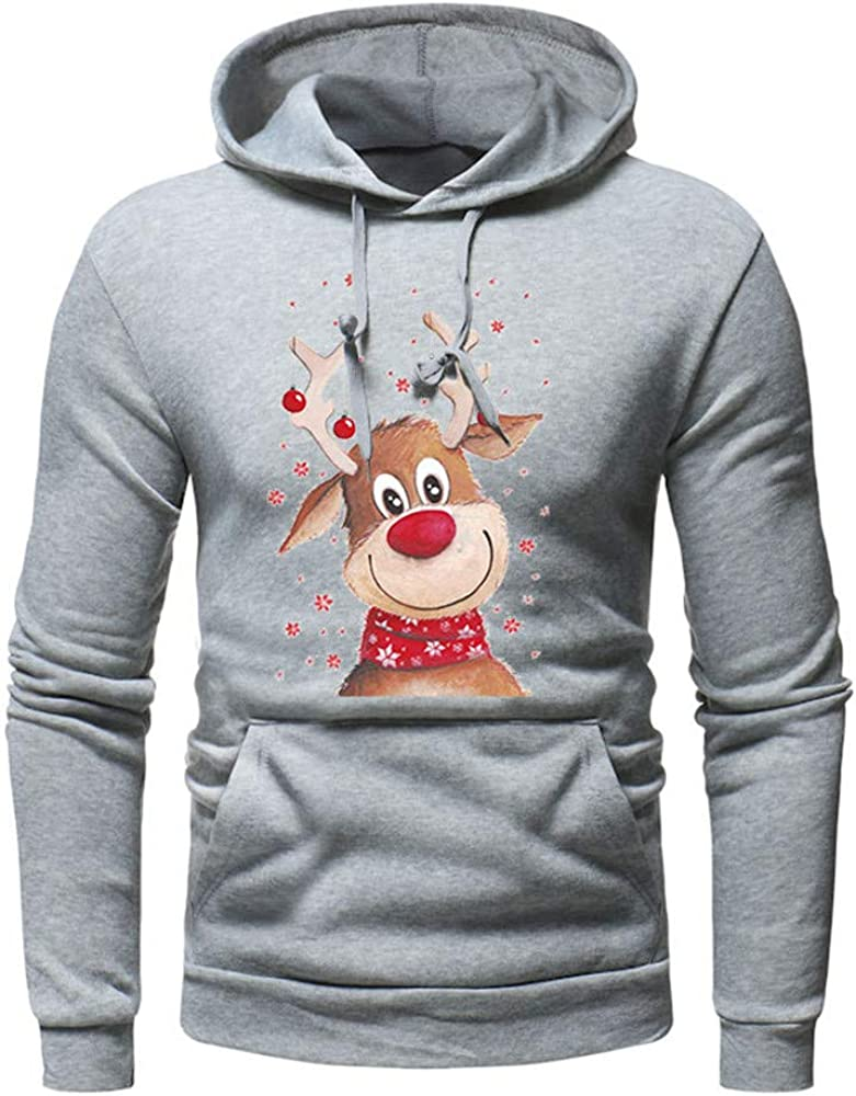 sumcreat Clothes,Men/'s Long Sleeve Autumn Winter Christmas Casual Sweatshirt Hoodies Tracksuits
