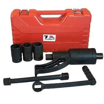 T1 A 1 Inch Drive Heavy Duty par de torsión multiplicador rueda llave con 30 mm 32 mm y poste de 33 mm de sockets para quitar tuercas: Amazon.es: Coche y ...