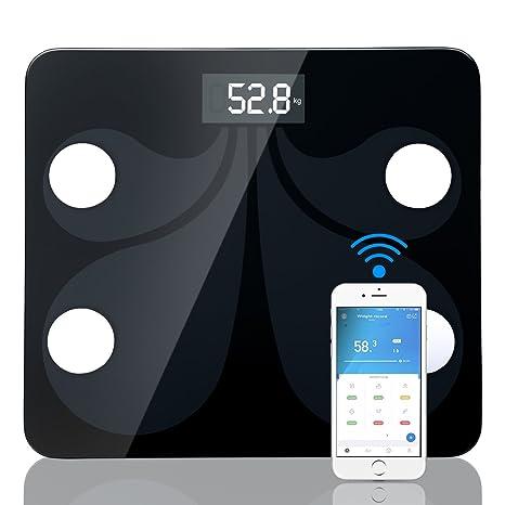 Báscula de Baño corporal digital Bascula con App para Android e IOS para administrar el peso