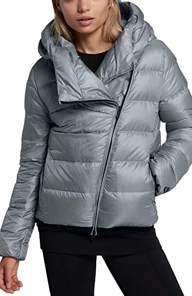 707140b927520 Nike Women's Sportswear Puffer Down Jacket Black Cool Grey 854767 065 -  Grey - Small