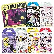 Fujifilm Instax Mini Instant Film Alice Wonderland & Disney Mickey & Winnie Pooh & Rilakkuma & Little Twin stars & Comic 10 Sheets X 6 Assorted Films Value Set with Star Blazers 2199 premium towel