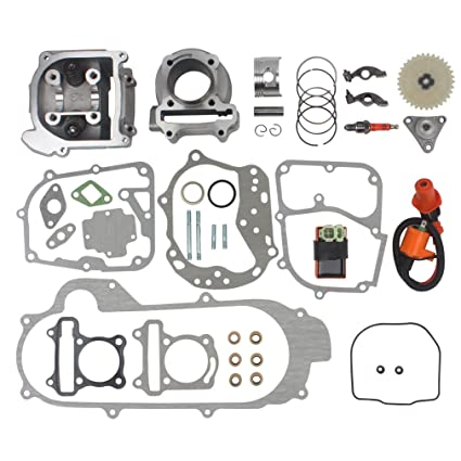 Wingsmoto 100cc Big Bore Kit for 69mm Valve GY6 49CC 50CC 139QMB Moped  Scooter Engine 50mm Bore Upgrade Set with Racing CDI Ignition Coil  Performance