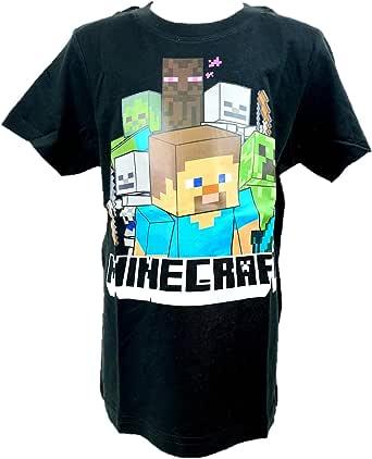 MINECRAFT Camiseta para chicos de manga corta original