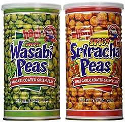 Hapi Hot Wasabi Peas + Spicy Sriracha Pe...