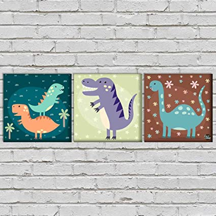 Nutcase Designer Wall Art Hanging D�cor Non-Fading Digital Painting (Screws Included)�- Dinosaurs