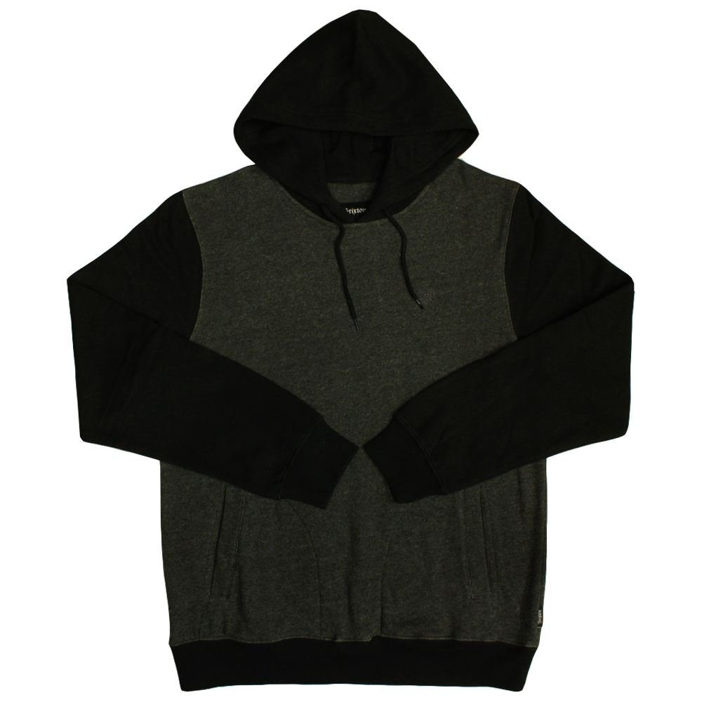 Brixton Malcolm Pullover Hoodie Charcoal schwarz