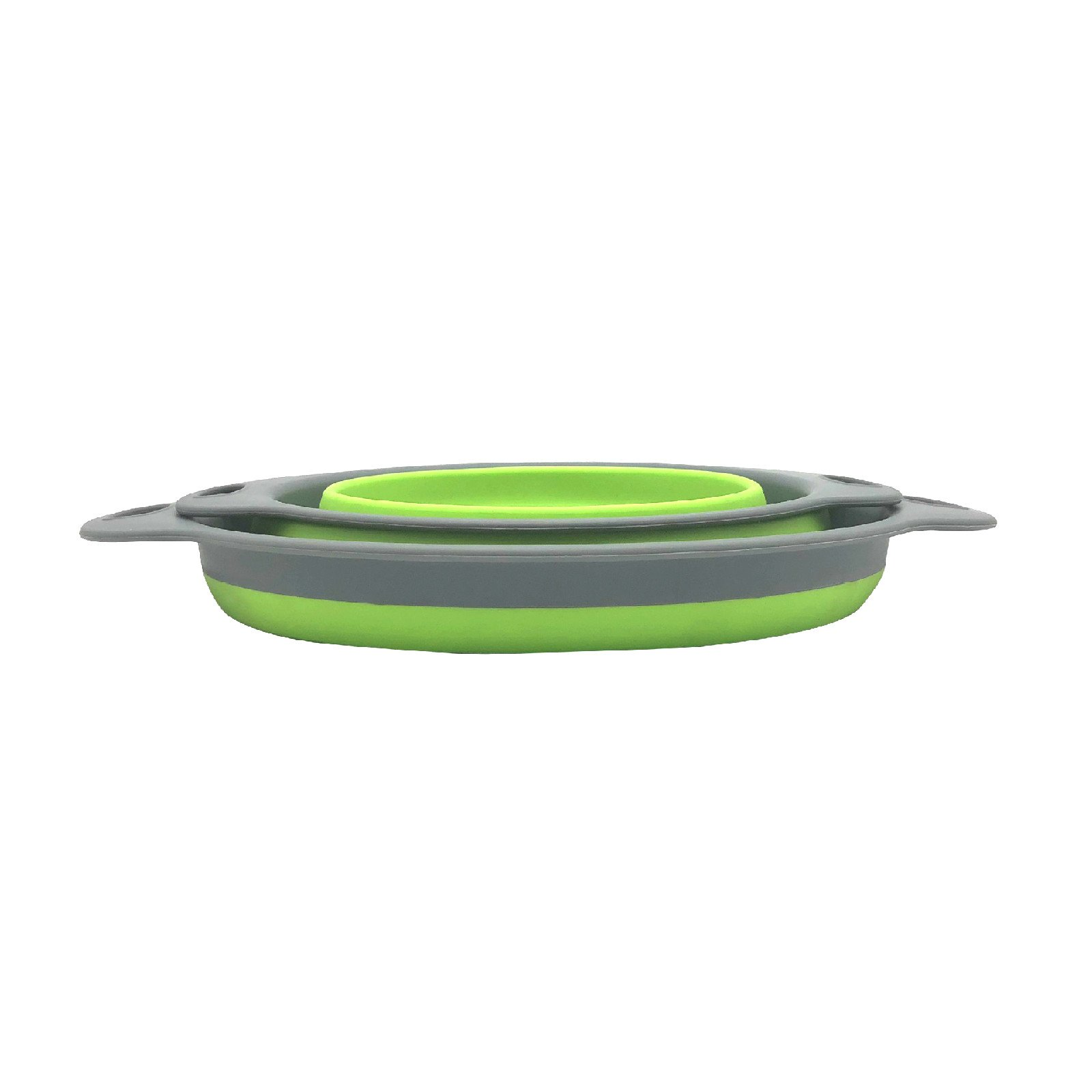 Wesource Collapsible Silicone Colander Strainer Kitchen Fruit Vegetable Basket (Green) by Wesource