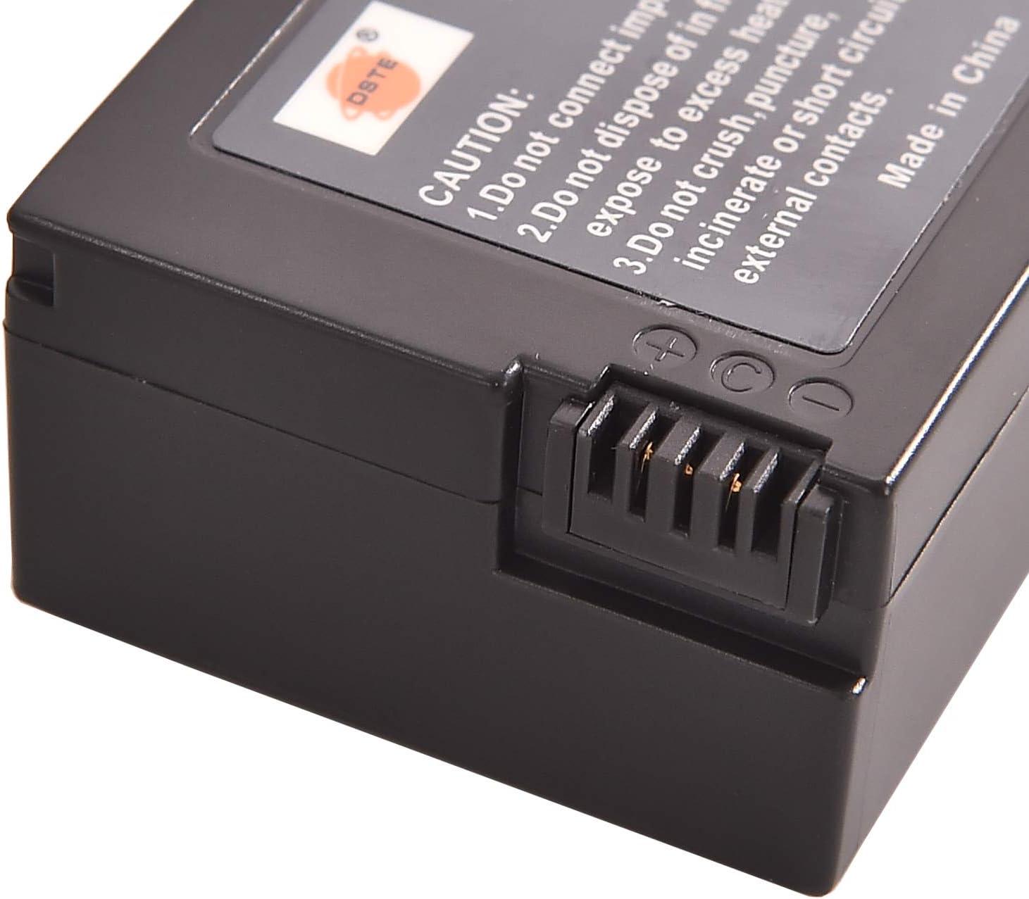 DSTE 2X NP-FM50 Repuesto Bater/ía Cargador USB Dual con Pantalla LCD Compatible para NP-FM55H NP-FM30 NP-FM51 NP-QM50 NP-QM51 y Sony CCD-TR208 CCD-TR408 CCD-TRV108 CCD-TRV116 CCD-TRV118 C/ámara