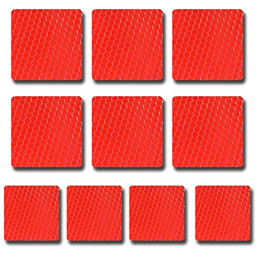 Square shape Reflective Tape Self Adhesive Warning Tape For Trucks Trailers Car Park Waterproof Self-Adhesive Trailer Reflector Tape-Reflective Tape 10 packs Red
