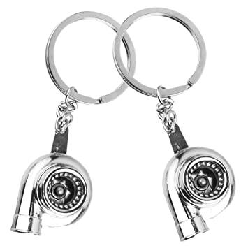 Jili Online Cool Keyring Keychain Key Chain Supercharge Turbo Blower Women Bag Accessory