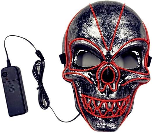 ZYUNYUN Halloween Máscara, la Purga máscara LED, Máscara de ...