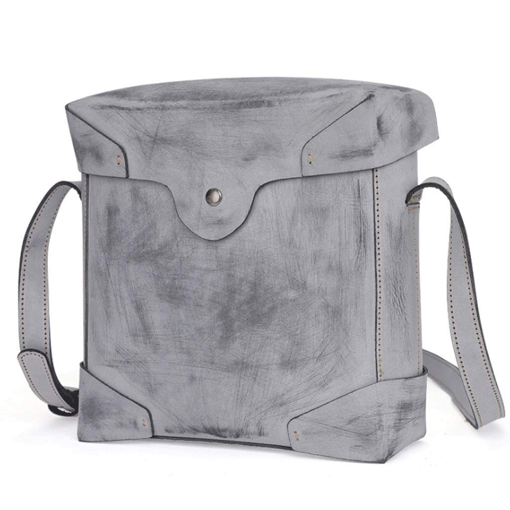 Color : Black, Size : S Leather Messenger Bag for Men Head Layer Leather Retro Casual