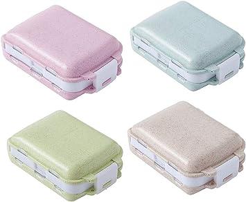 CaiJJ Estuche portátil para caja de pastillas de viaje Semanal 7 días Contenedor de plástico para medicamentos (4 piezas): Amazon.es: Bricolaje y herramientas