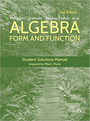 Algebra: Form and Function Student Solutions Manual: Guadalupe I ...