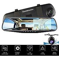 Ezonetronics 1080p Dual Lens for Vehicles Front & Rearview Mirror Dash Cam