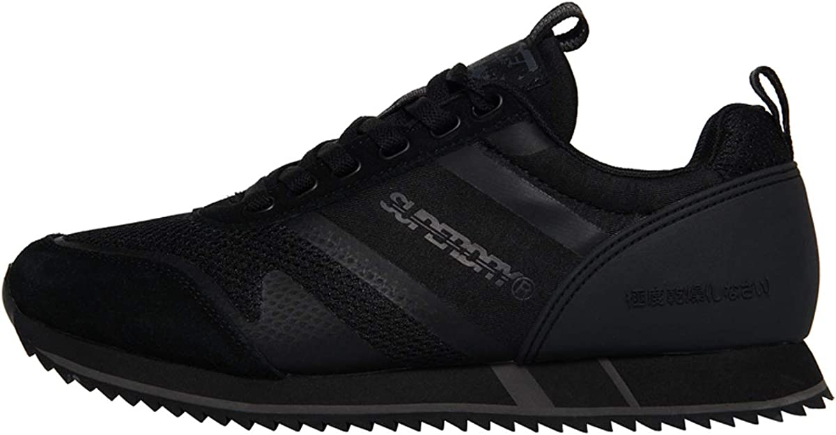 Superdry Fero Runner Trainers Black 02A