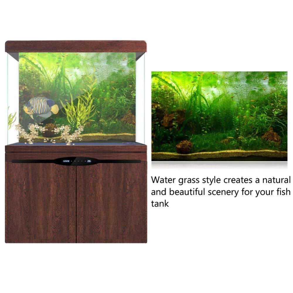 9150cm Aquarium Fish Tank Background Poster PVC Adhesive Decor Paper Green Water Grass Aquatic Style Like Real