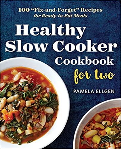 The picture of a Healthy slow cooker cookbook, for two.
