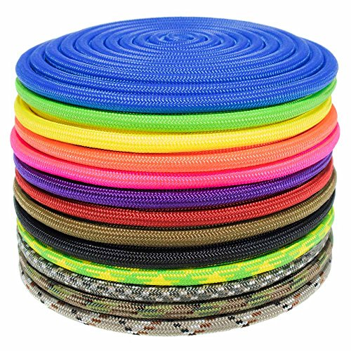 GOLBERG Nylon Paramax Utility Cord – Choose from 1/4 inch or 5/16 inch Diameter – Available in 5 Lengths and 20+ Colors