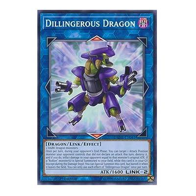 x3 Dillingerous Dragon - DANE-EN041 - Common - 1st Edition: Toys & Games