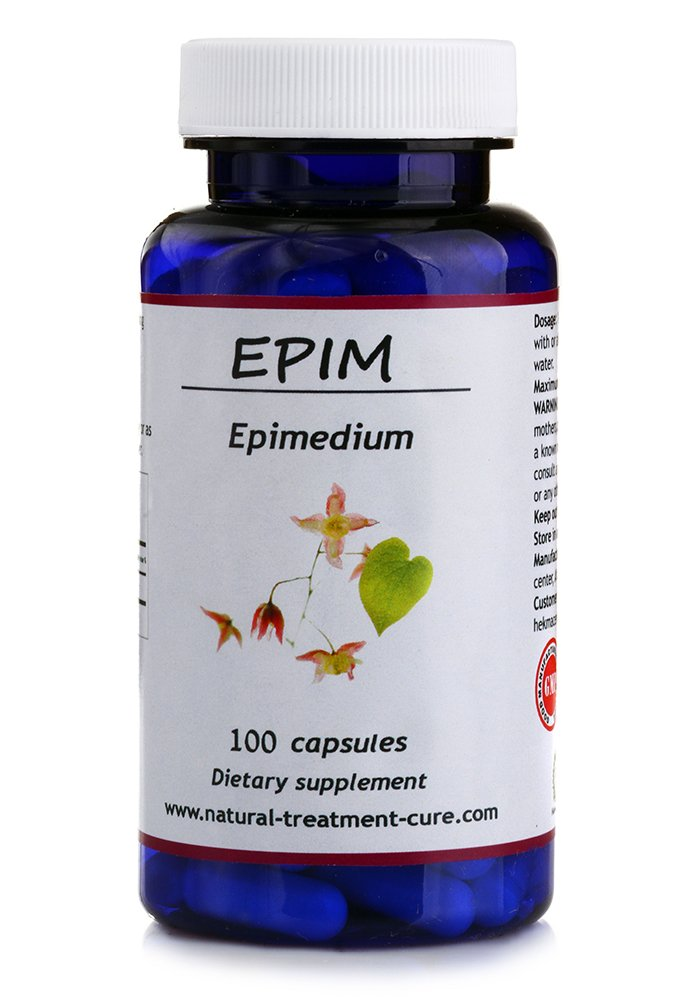 Hekma Center Pure Extract of Epimedium - Horny Goat Weed - 100 Capsules for Reproductive System and Sexual Drive - Vegan