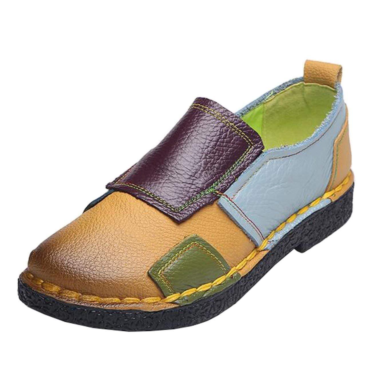 Fuxitoggo Flache runde Slip-On-Slipper für Damen (Farbe     Gelb B Größe   3 UK) b27d71