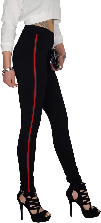 Dresscode Berlin DB Damen Stretch High Waist Röhrenjeans mit Seitenstreifen
