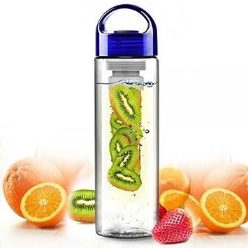 Zuvo infusor de frutas botella de agua potable de 800ml para gimnasio, deportes