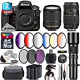 Holiday Saving Bundle for D810 DSLR Camera + 18-140mm VR Lens + Tamron 70-300mm Di LD Lens + 500mm Telephoto Lens + 6PC Graduated Color Filer Set + 2yr Extended Warranty - International Version