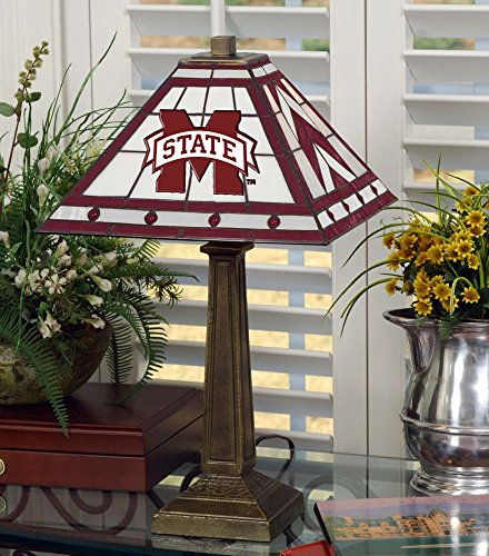 NCAA Mississippi State University 23in Mission Lamp, One Size, Multicolor by Memory Company