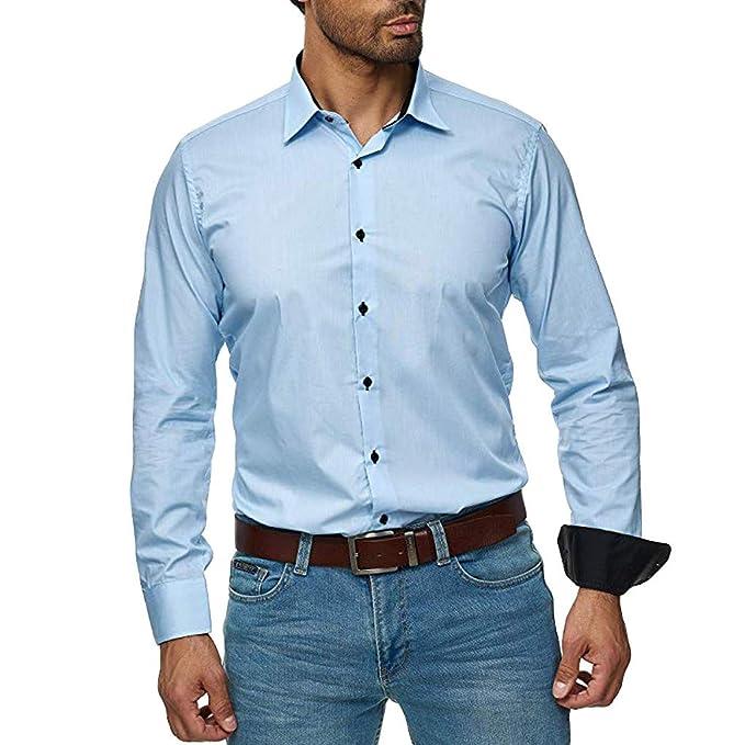 Heetey - Camisa para Hombre de Corte Ajustado, fácil de ...