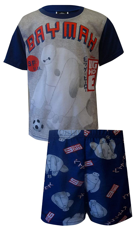 Disney Big Hero 6 Boys Baymax Robot Navy Blue Pajama