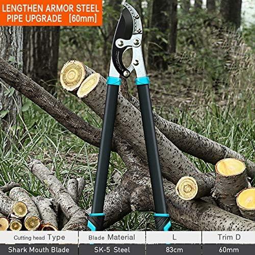 XSY Tijeras de podar árboles de jardín, Herramienta de podar Ramas Altas, Mango de Cuchillo para Fruta de Aluminio de Largo Alcance 60MM: Amazon.es: Jardín