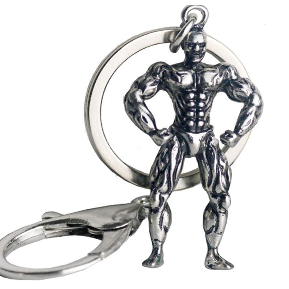 NiceButy llavero de metal aptitud asimiento de la mano con ...