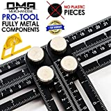 Universal Multi-Angle Measuring Ruler - ANY-ANGLE Template Tool Set - Upgraded Professional Aluminum Alloy Multi-Angle Template Tool - FULL-METAL Angularizer - Multi Functional Angle Ruler - (Black)