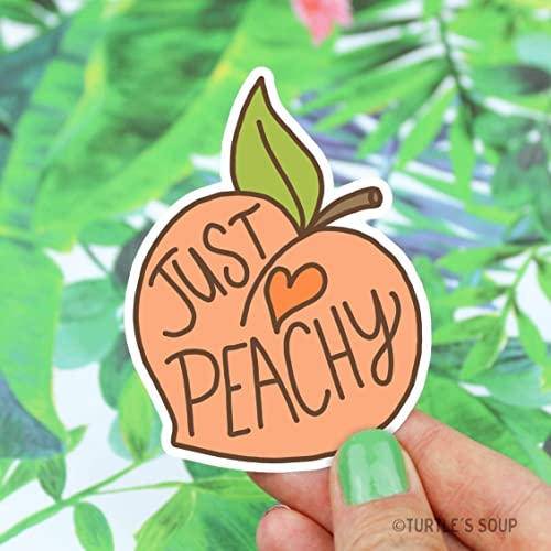 Peach Sticker, Just Peachy, Vinyl Stickers, Gift For Her, Southern Belle, Cute Stickers, Laptop Decal, Water Bottle Sticker