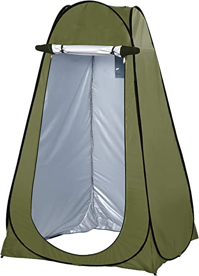 Camp Toilet Lightweight /& Sturdy Rain Shelter for Camping /& Beach Pop Up Pod Changing Room Privacy Tent Foldable Instant Portable Outdoor Shower Tent with Carry Bag Easy Set Up
