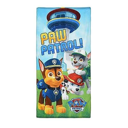 Paw Patrol Toalla de Playa 70 x 140 cm, 100/% algod/ón dise/ño de ni/ños