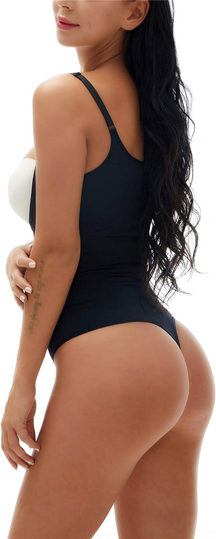 KHAYA Womens Thong Shapewear High Waist Tranier Seamless Slimming Body Shaper Firm Tummy Control Bodysuit