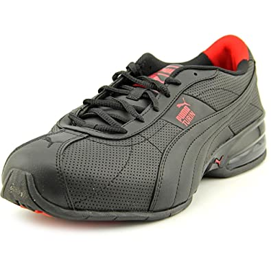 5d621e0d5090 Puma Mens Cell Turin Perf Running Shoes Black High Risk Red 9.5 D(M