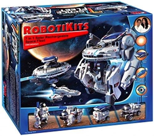 Mini Solar Robot (S.T.E.A.M. Line Toys Elenco Owi Solar Space Fleet Educational Mini Solar Kit)