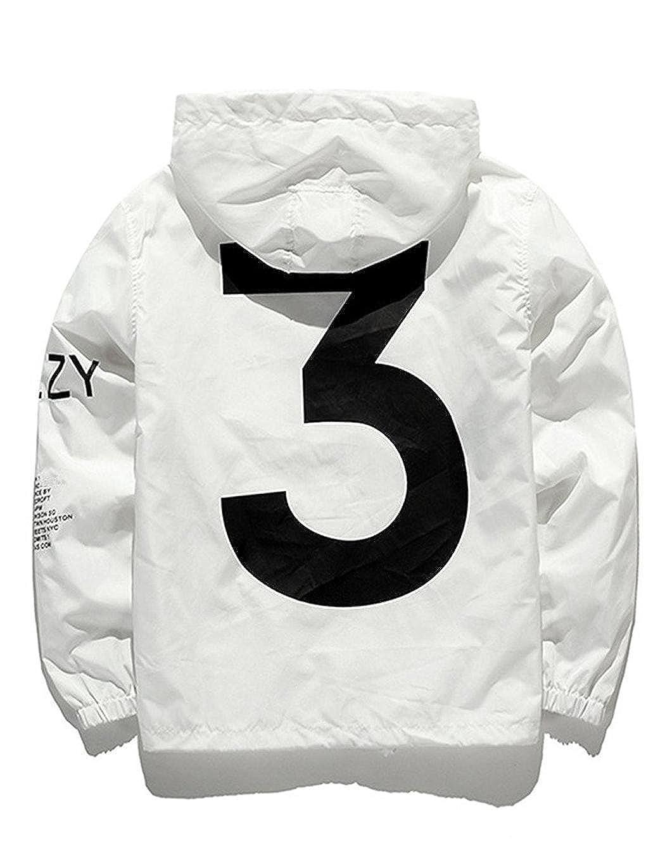 Bifast Men's Waterproof Front-Zip Lightweight Hoodie Hiking Outdoor Raincoat Jacket with Pocket S-XL