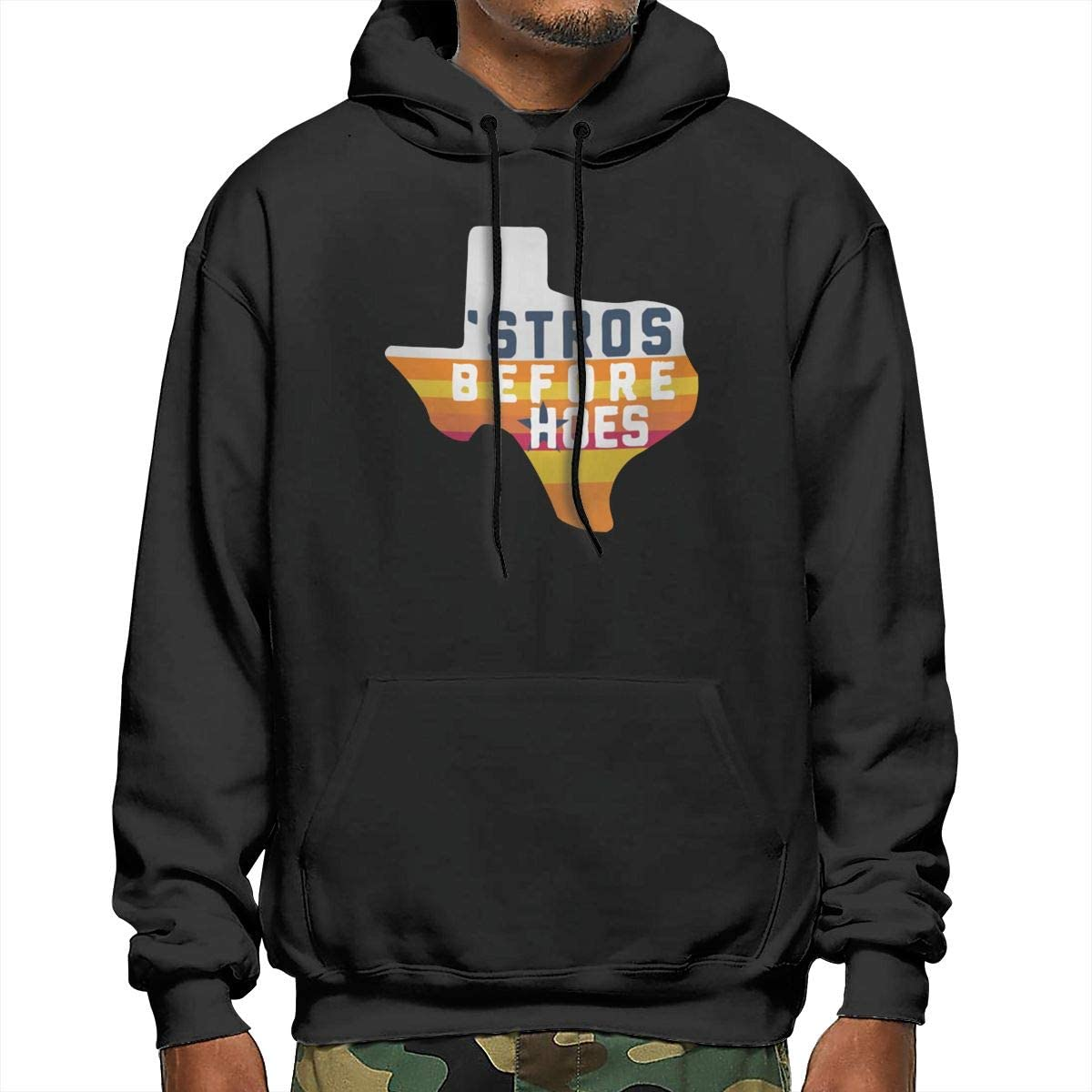 HOU-Ston AST-ROS Inspired St-ROS Before Hoes Mens Hooded Sweatshirt