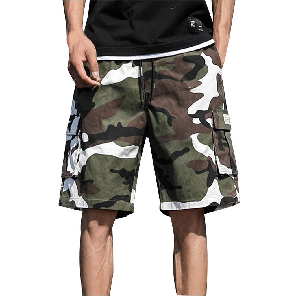 Mens Camo Overalls Shorts Half Pants Summer Cool Outdoor Beach Trousers Casual S