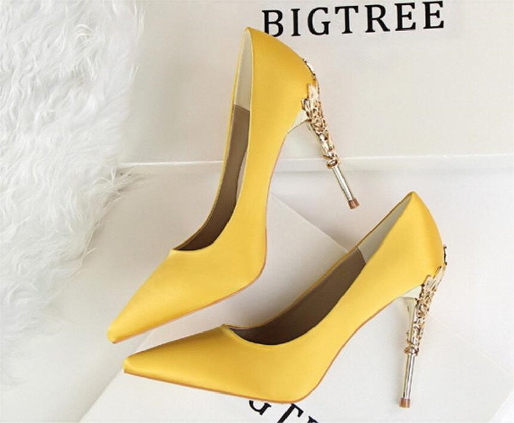 fb36c2706ef4c Amazon.com: LUCKY ROAD Pointed Toe Low Mid Kitten Heels Dress Court ...