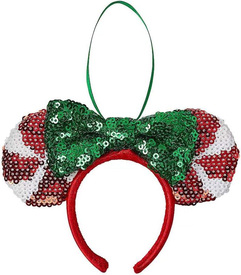 Candy Cane Cutie Lollipop Disney Parks Sequins Minnie Ears Headband