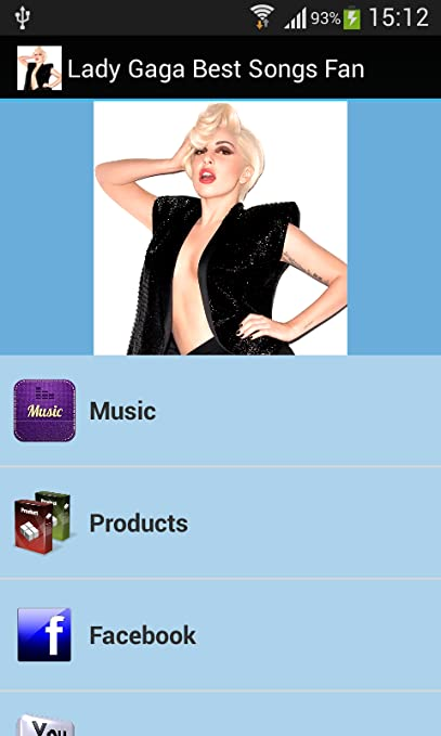 Amazon com: Lady Gaga Best Songs Fan: Appstore for Android