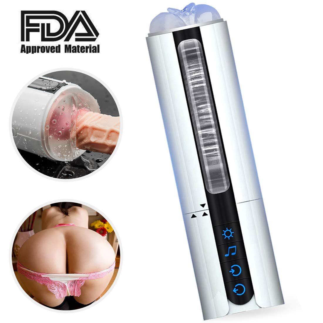Electric Rotating and Sucking Massage Cup Telescopic Toy with Voice Interaction for Men jiyougsi