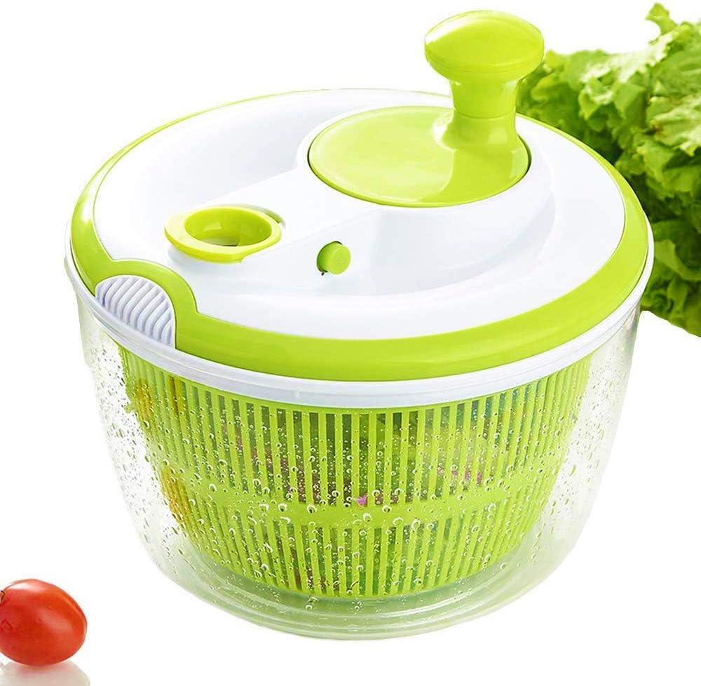 JmeGe Salad Spinner Dryer Quick Design BPA Free Dry Off & Drain Lettuce and  Vegetable-4.5 Quart Large Capacity & Dishwasher Safe(Green): Amazon.co.uk:  Kitchen & Home